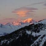 Couché et levé de soleil face au Mont Blanc !