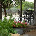 view of the patio at the Goat Barn