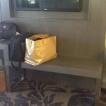 the bench area for sitting or luggage room 1817