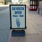 sky deck entrance!