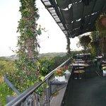 la terrasse de la salle à manger