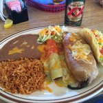 Enchilada, Chili Relleno and Taco Platter