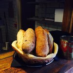 Fresh daily baked bread from the wood fired oven