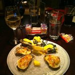 Oysters Baton Rouge-served with Trinita Cellars Chardonnay