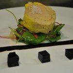 foie gras s vinným želé