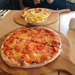Pizza, Garlic bread & Chips - Yummy