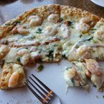 Killer seafood pizza.