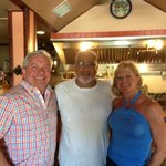 My wife and I with the owner of the Havana Cafe