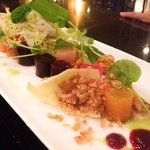 Heirloom Beets with endive and the most delicious candied nut crumble