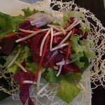 Salad in an edible basket
