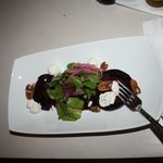Roasted beet salad with wonderful local goat cheese.