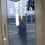 The entrance to Aziza