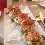 Oyster BLT appetizer