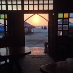 Sunset view from the doors of Surf Shak