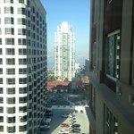 Eighteenth floor bay view room.