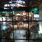 View of water park from window in lobby area