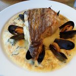cod with mussels