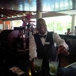 Mario tending the lobby bar