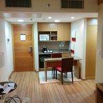 Mini-cozinha na sala