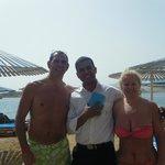 Beach bar with Mohhamad
