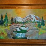 New painting by Chris Messer in the hotel lobby!