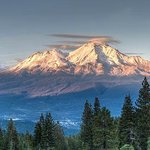 The hotel sits on the southern slope of Mt Shasta