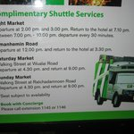 Shuttle service times; nice, but infrequent
