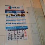 calendario en el baño