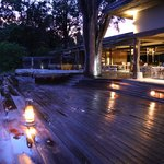 deck in front of dining/reception