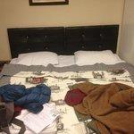 il letto matrimoniale (in realtà costituito da due letti separati attaccati insieme…)