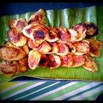 Fried bananas