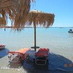 Elafonissi, beautiful beach but very windy