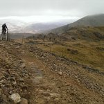On th way back down the steep track to the slate quarries back to the Rhyd ddu carpark