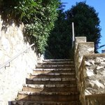 Villa Rima is on a little hill with outside stairs (2 floors)