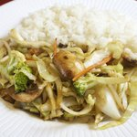 Sukiaki - Stir-fried with assorted vegetables, served with rice.