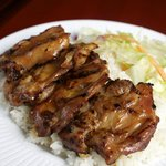Grilled Teriyaki Chicken, served with rice and salad. House Specialty