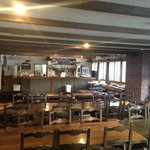 The lounge / breakfast area
