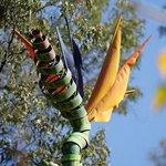 'Kite of Paradise' sculpture by Benjamin Lavender
