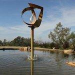 'Golden Torsion' sculpture by Lia Strell