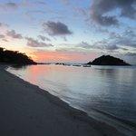 Sunset from the main beach