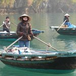 Little boats took us all around  the floating village