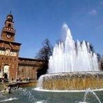 A Triennale e o Castelo Sforzesco ficam localizados no parque Sempione em Milão. Foto SayuriMura