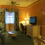Living room of the king suite - true Floridian charm!