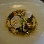 Main-Rock flathead, seaweed, grilled octopus, shitake & eggplant