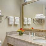 Our bathrooms are fresh and clean with fluffy linens