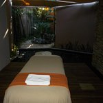 one of the massage tables in the spa