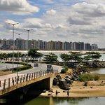Vista do pier de Yemanjá