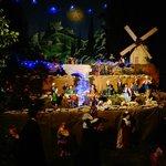 Sainton exhibit every December: Village scene