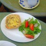 Quiche Lorraine with side salad