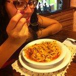 Molho pomodori modificado conforme meu gosto. ;)